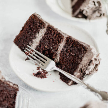 Chocolate Cake with Oreo Buttercream Frosting | Image and Copyright Policy: Beyond the Butter, LLC