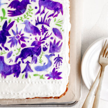 Hummingbird Sheet Cake with White Chocolate Cream Cheese Frosting | All Images © Beyond the Butter, LLC.